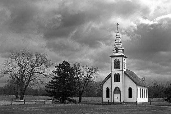 White-Country-Church-by-Mark-Van-Scyoc-black-and-white-photography