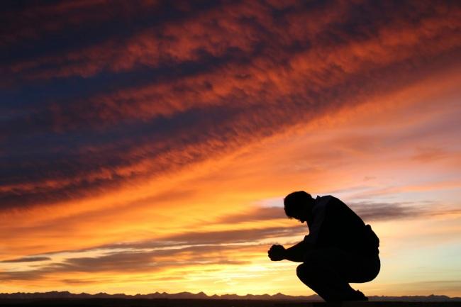 prayer_sunset